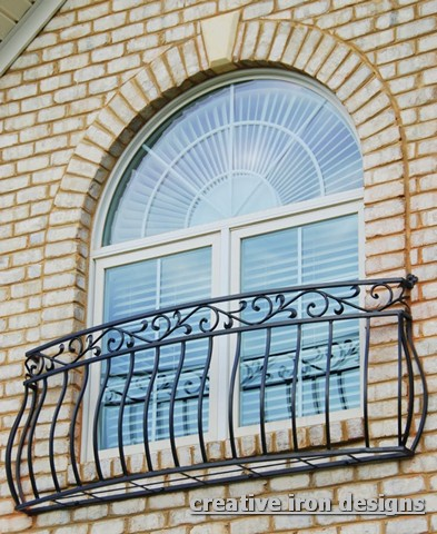 Creative iron designs for French balcony design